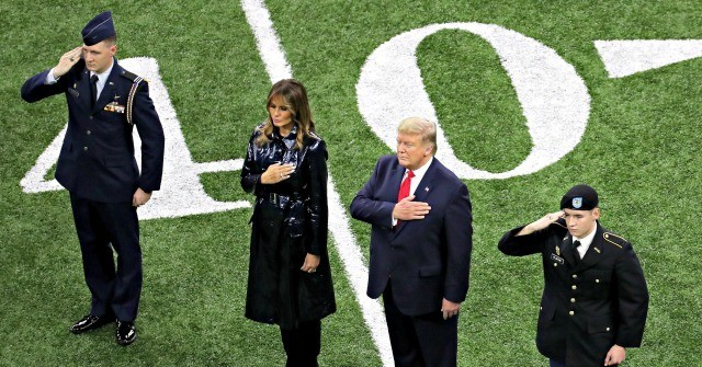 Fans Cheer Trump as He Attends College Football Championship Game