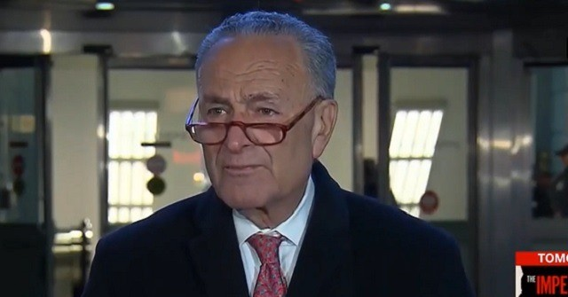 Schumer: 'We Will Be Debating Witnesses and Documents on the Floor' Tomorrow | Breitbart