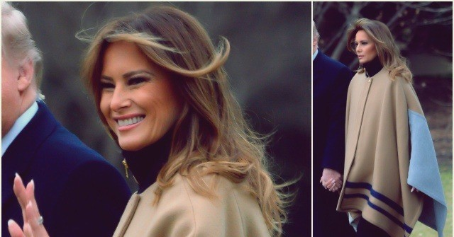 Fashion Notes: Melania Trump is Winter Chic in Dramatic Chloé Cape