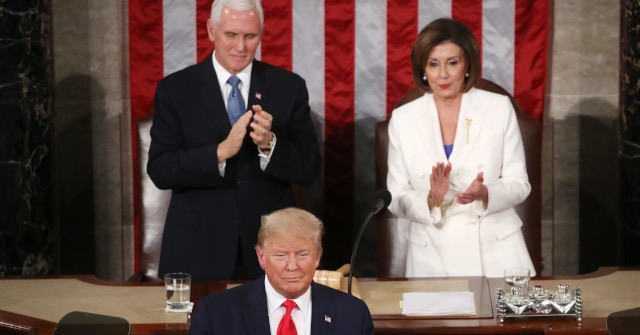 Watch: Trump Won't Shake Nancy Pelosi's Hand at State of the Union