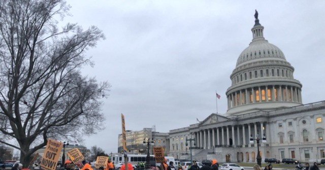 Watch Live: Leftists Protest Senate Acquittal of Trump Outside Capitol