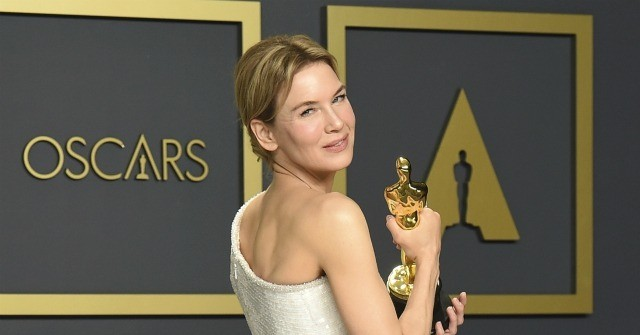 Watch: Renée Zellweger Honors 'Courageous Men and Women in Uniform' in Oscars Speech