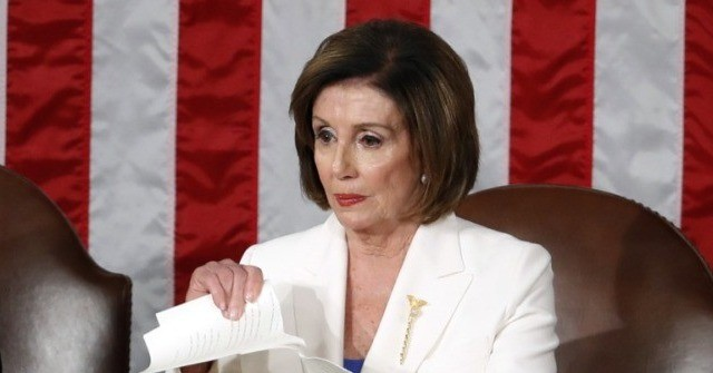 Pelosi's Staff Demands Takedown of 'Deceptively Altered' Video of Her SOTU Tantrum