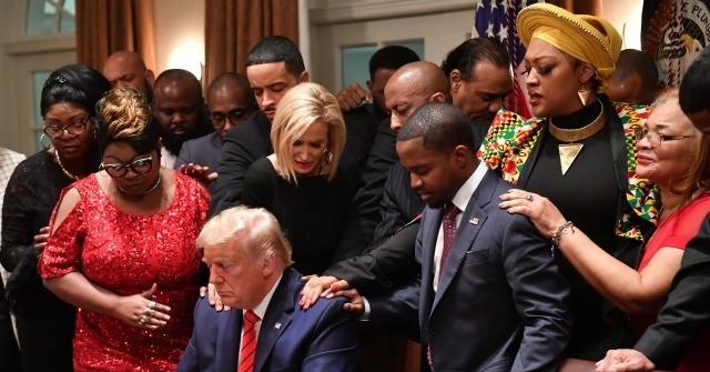 Photos: Black Leaders Pray for Trump at Black History Month Celebration