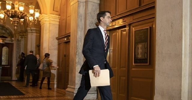 Tom Cotton Skipped Hours of Impeachment Trial to Talk Coronavirus with Trump Admin