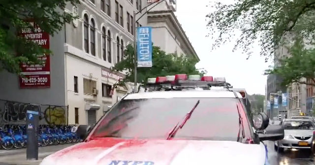 WATCH: Agitators Pose for Pictures with Vandalized NYPD Car